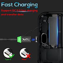 Магнитный кабель USB Type-C Topk для зарядки и передачи данных (Черный, 1м), фото 3
