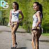 Стильные женские штаны питон Д 4 гл $