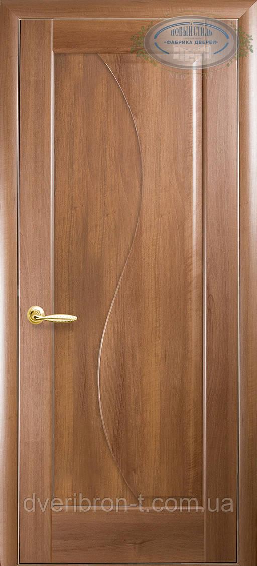 Двери Новый Стиль Эскада глухое золотая ольха, коллекция Маэстра Р