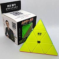 Пирамидка QiYi QiMing Pyraminx, пираминкс, кубик Рубика, цветной матовый пластик