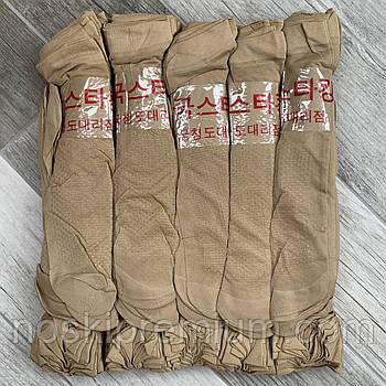 Носки женские капрон рулон, пучок с тормозами Иероглиф, 23-25 размер, бежевые №8, 02678