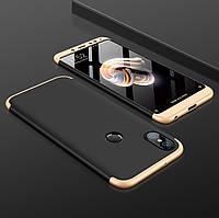 Чохол GKK 360 для Xiaomi Mi A2 / Mi 6X бампер оригінальний Black-Gold