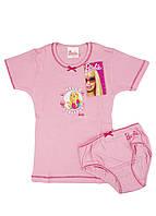 Комплект футболка с трусами Barbie 104см Розовый, Малиновый, Белый