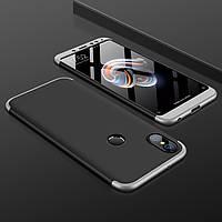 Чохол GKK 360 для Xiaomi Mi A2 / Mi 6X бампер оригінальний Black-Silver
