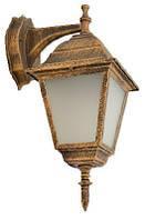 Светильник садово-парковый 672S античное золото/матовое стекло