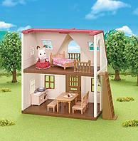 Сільваніан фемелі дім кролика Sylvanian families Red Roof Cozy Cottage Сильваниан фэмелис дом, фото 1