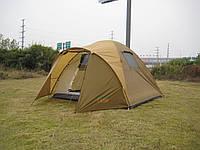 Палатка четырехместная Green Camp 1004 Цвет хаки