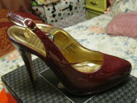Босоножки туфли женские 39.5 р бордовые гнилая вишня вишневые классика лаковые от ВАЛЕНТИНА ЮДАШКИНА