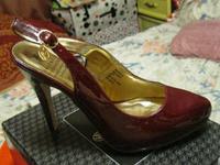 Босоножки туфли женские 39.5 р бордовые гнилая вишня вишневые классика лаковые от ВАЛЕНТИНА ЮДАШКИНА, фото 1