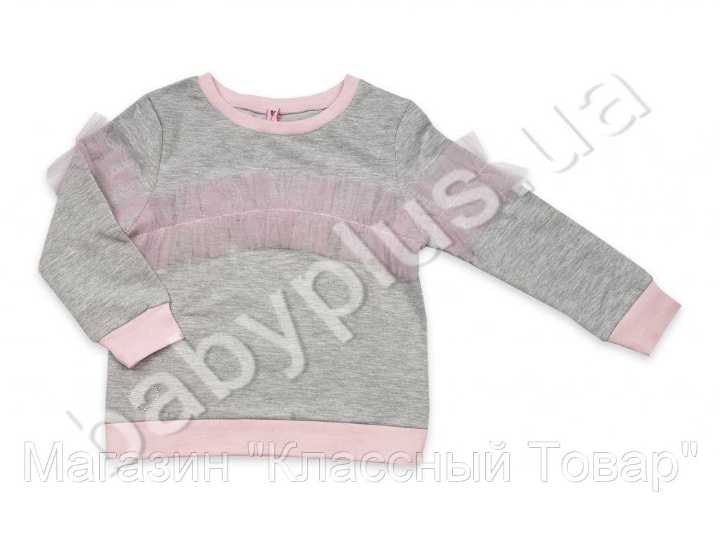 73bc84cec97 Реглан для девочки.Цвет-серый (рост 104