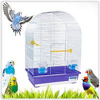 Клетка для птиц «Арка»-Хром- 44х27х65 см