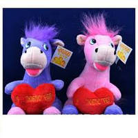 Игрушка озвученная Лошадка с сердцем №1342,развлекательные игрушки, подарки для малышей, мягкие игрушки