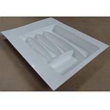 Лоток для столовых приборов белый Hafele (Германия) в ящик 400-450 мм. 402х498, фото 3