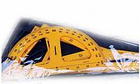Набор чертежный 0197 для доски 5 предметов: линейки 50см, транспортер 45см, 2 угольник, циркуль на присоске