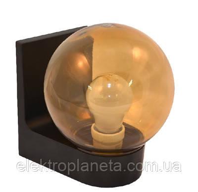 Світильник настінний 613 плафон: куля димчаста гладка 220В/15Вт