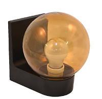 Світильник настінний 613 плафон: куля димчаста гладка 220В/15Вт, фото 1