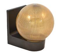 Настенный сферический светильник (пластиковый) 623 шар дымчатый ребристый
