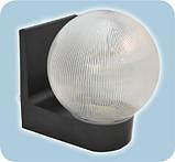 Світильник настінний 613 плафон: куля димчаста гладка 220В/15Вт, фото 4