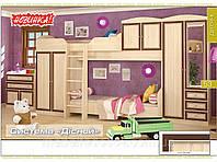 Набор мебели для детской №2Дисней (Мебель-Сервис)  дуб светлый