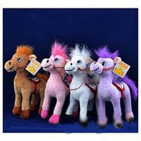 Мягкая игрушка озвученная Лошадка №2148,подарки для детей,пушистая,качественная, лучший подарок для малышей