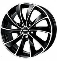 Rial Lugano 8.5x19 5x112 ET32 DIA70.1 Diamond black front polished