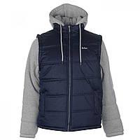 Куртка Lee Cooper Sweater Sleeve Navy/Mid Grey - Оригинал