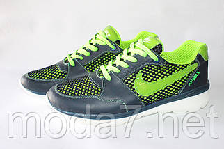 Мужские кроссовки Nike Roshe Run сетка реплика, фото 3