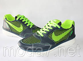 Мужские кроссовки Nike Roshe Run сетка реплика, фото 2