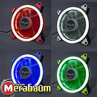 Вентилятор Frime Iris LED Fan Single Ring (FLF-HB120BSR); 120х120х25мм, 3-pin+4-pin