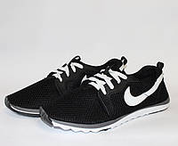 Мужские кроссовки Nike сетка черные