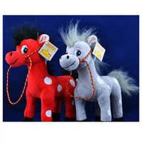 Мягкая игрушка озвученная Лошадка №1375,развлекательные игрушки, подарки для малышей, мягкие игрушки животных