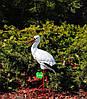 Садовая фигура Семья садовых аистов в гнезде №36, фото 4