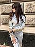 Женский костюм с лампасами из эко кожи в расцветках, р-р 42-48. РА-1-0419, фото 2