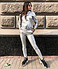 Женский костюм с лампасами из эко кожи в расцветках, р-р 42-48. РА-1-0419, фото 5