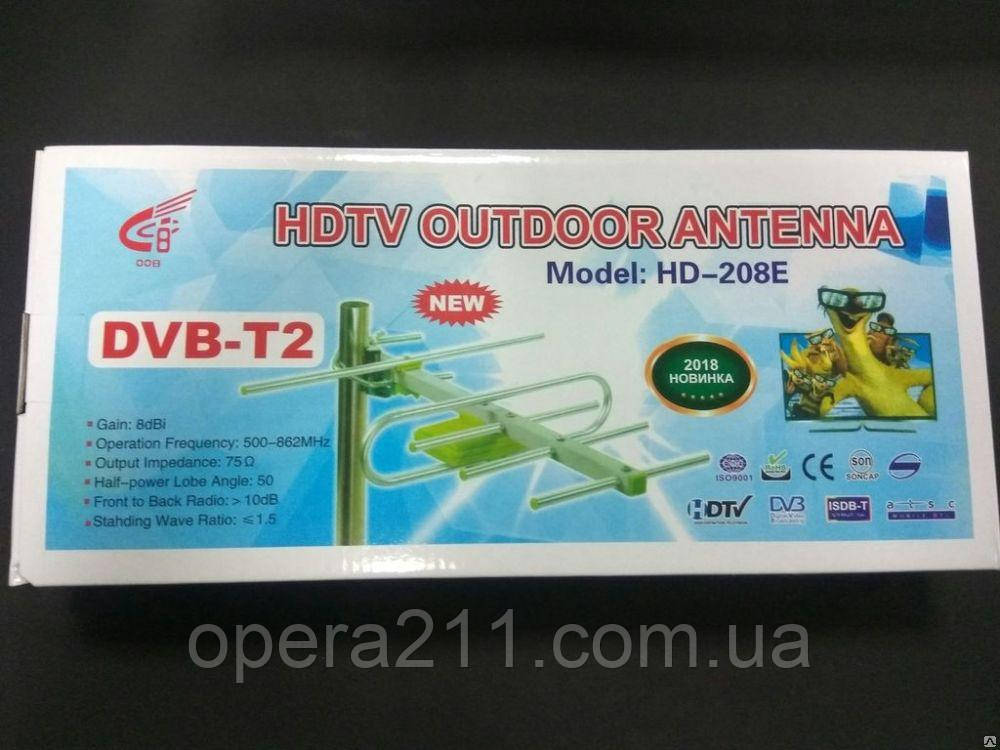 Антенна Цифровая Универсальная HD-208E (в упаковке)