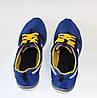 Мужские кроссовки Nike сетка синие реплика, фото 3