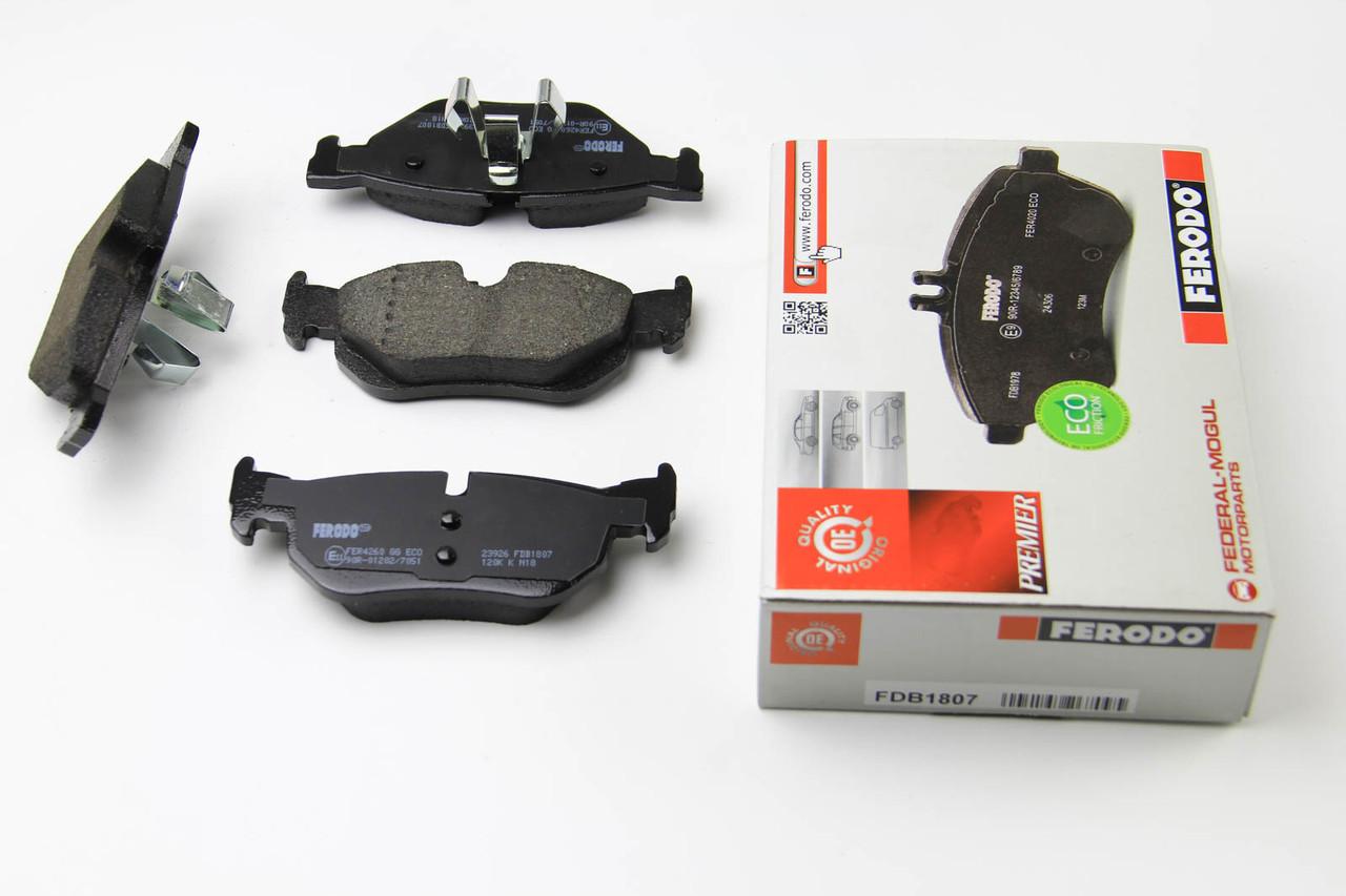 Колодки тормозные задние BMW 1(E81) 2004-2013 (123x43,6x17,3) Ferodo