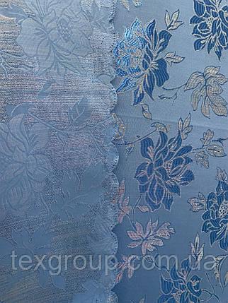 Шторы жаккард 1.5м голубой  D3, фото 2