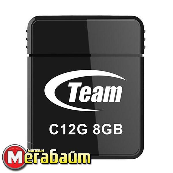 USB 8Gb Team C12G Black (TC12G8GB01)