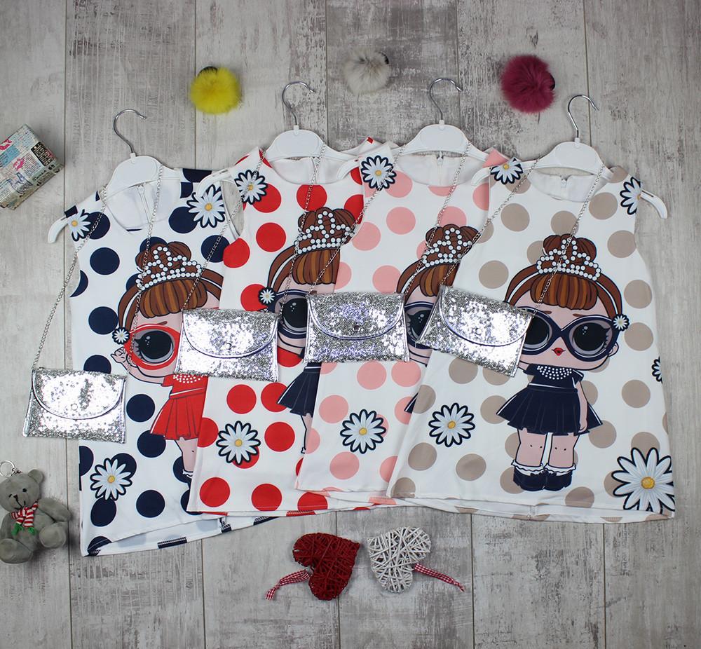 Детские платья оптом + сумочка № 9009