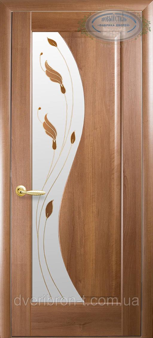 Двери Новый Стиль Эскада + Р1 золотая ольха, коллекция Маэстра Р