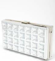 """Клатч вечерний серебристый """"коробочка с камнями""""Bulaggi (Голландия) 32193.71 (уценка)"""