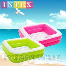 Бассейн 57100  INTEX детский 85-85-23 см, высота борта 18см, 2 цвета, фото 3
