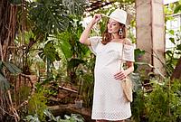 Платье для беременных и кормящих ELEZEVIN SF-29.041, молочное, фото 1