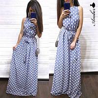Женское платье в пол без рукавов от 42 до 52 размера  РАЗНЫЕ ЦВЕТА