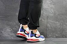 Модные кроссовки Nike Air Max 270 React,белый с синим, фото 3