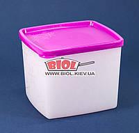 """Контейнер 0,9л пищевой для заморозки 126х113х98мм пластиковый прямоугольный с крышкой """"Arctic Box"""" Ал-Пластик, фото 1"""