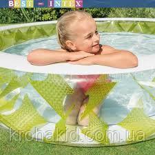 Бассейн с надувным дном Колесо Intex  57182  размер 229-56 см, ремкомплект, 6+, фото 2