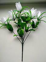 Букет искусственных белых тюльпанов