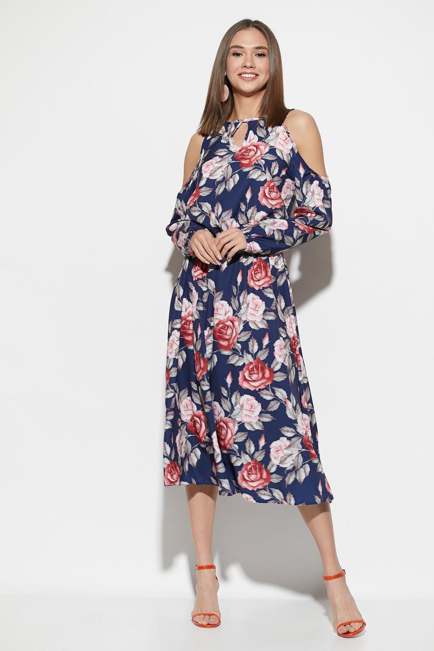 Платье миди с цветами Дельта, фото 1